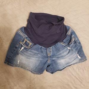 Jean maternity shorts size XL